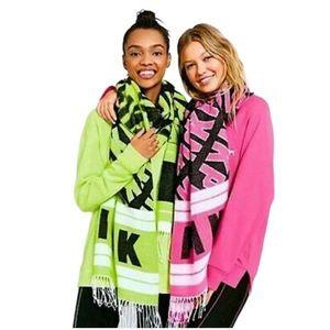 VICTORIA'S SECRET PINK neon Large Blanket Scarf